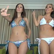 Princess Ashley and Bratty Nikki Bikini Brats Lock Your Loser Dick Up 070815 mp4