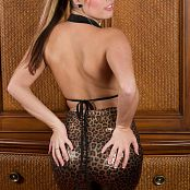 Sherri Chanel Shiny Leopard Pants 005 jpg