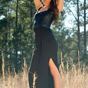 Brittany Marie Black Leather Dress 008 jpg