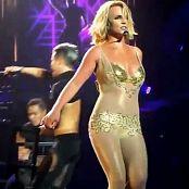Britney Spears Medley POM Las Vegas Golden Outfit HD Video