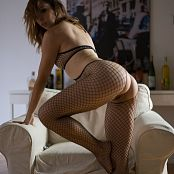Ariel Rebel Exquisite Black Fishnet Bodysuit 001