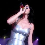 Katy Perry Silver Latex Dress new 141115 avi