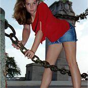 MeganQT Red Top Jean Skirt Picture Set 005
