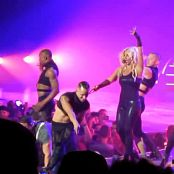 Britney Spears Freakshow Black Latex Catsuit Teasing HD Video