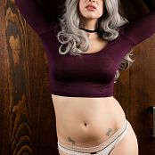Bailey Jay Im Standing In Front Of a Big SLiding Wood Door Set 002