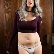 Bailey Jay Im Standing In Front Of a Big SLiding Wood Door Set 004