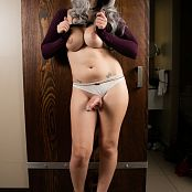 Bailey Jay Im Standing In Front Of a Big SLiding Wood Door Set 008