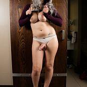 Bailey Jay Im Standing In Front Of a Big SLiding Wood Door Set 008
