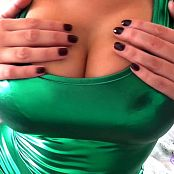 Goddess Jasmine Easy Tit Drain Green Latex JOI HD Video