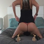 Kalee Carroll Black Dress Booty Bed 244 020416 mp4