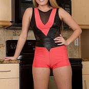Sherri Chanel Orange Gymnastics Outfit 004