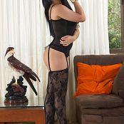 Alejandra Jimenez Black Stockings Outfit TeenBeautyFitness Set 006