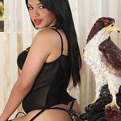 Alejandra Jimenez Black Stockings Outfit TeenBeautyFitness Set 055