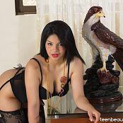Alejandra Jimenez Black Stockings Outfit TeenBeautyFitness Set 060