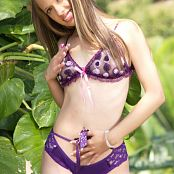 Ana Ortiz Chic Purple Lingerie Picture Set