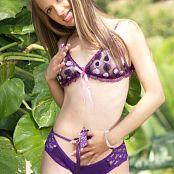 Ana Ortiz Chic Purple Lingerie Picture Set