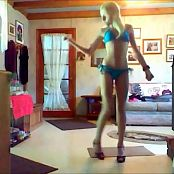 Blonde in blue bikini 230416 flv