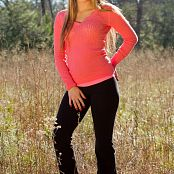 Sherri chanel Pink Shirt And Yoga Pants 007
