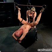 Dominatrix Harmony Rose Captive Male BDSM Video