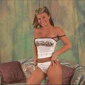 Halee Model White Tank Top Golden Skirt Video