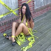 Kiera Sky Caution Tape HD Video