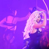 Britney Spears Slave Freakshow May 7 2014 Planet Hollywood Sexy Black Latex Catsuit new 030516 avi