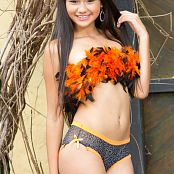 Lorena Alvarez Orange and Black Feathers TeenBeautyFitness Set