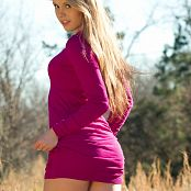 Sherri Chanel Pink Dress On Field 002