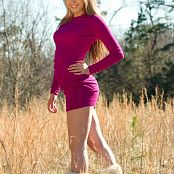 Sherri Chanel Pink Dress On Field 003