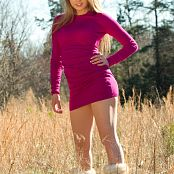 Sherri Chanel Pink Dress On Field 004