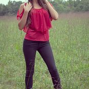 Brittany Marie Red Shirt 007