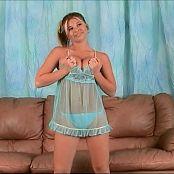 Halee Model Sheer Blue Nighty Dancing Shoot Video
