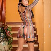 Luciana Model Artistic Colorful Mesh TeenBeautyFitness 0769