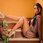 Luciana Model Artistic Colorful Mesh TeenBeautyFitness 0774