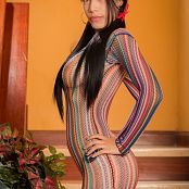 Luciana Model Artistic Colorful Mesh TeenBeautyFitness 0779