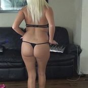 Kalee Carroll Black Lingerie With Heart Pasties Video 254 mp4