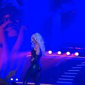 Britney Spears Freak Show in Vegas 5 10 SEXY BLACK LATEX CATSUIT new 230616 avi
