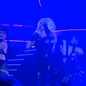 Britney Spears Freak Show in Vegas 5 10 SEXY BLACK LATEX CATSUIT new 230616 avi