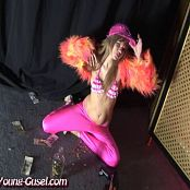 Young Gusel Pink Bikini Stripper Video