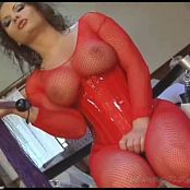 Katja Kassin Red Latex Dominatrix Fishnets 020816 avi