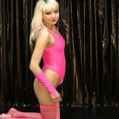 Young Gusel Shiny Pink Leotard HD 409 09 190816 mp4