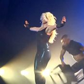 Britney Spears Do Something live in Vegas on VERY SEXY BLACK LATEX CATSUIT new 150816 avi