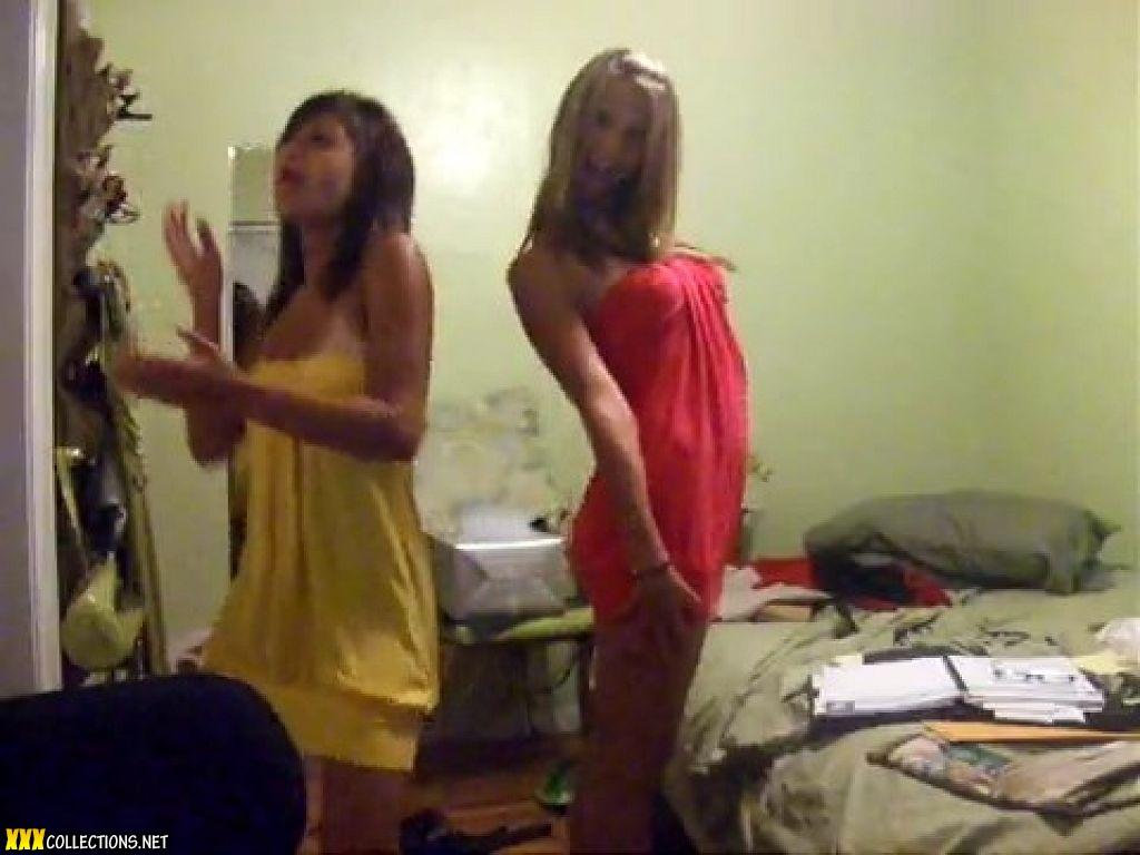 Teen dancing in bedroom