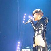 Rihanna Rockstar Live Shiny Black Latex Antwerp Belgium HD Video