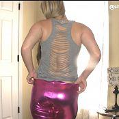 Sherri Chanel Pink Shiny Leggings Downloaded 2016 09 05 04 13 43 060916 mp4