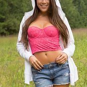 Brittany Marie Denim Shorts Nude Bonus Set 365 120916 019
