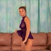 Halee Model Sexy See Through Purple Nighty Video