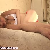 Young Gusel In Spandex Catsuit At Home Video