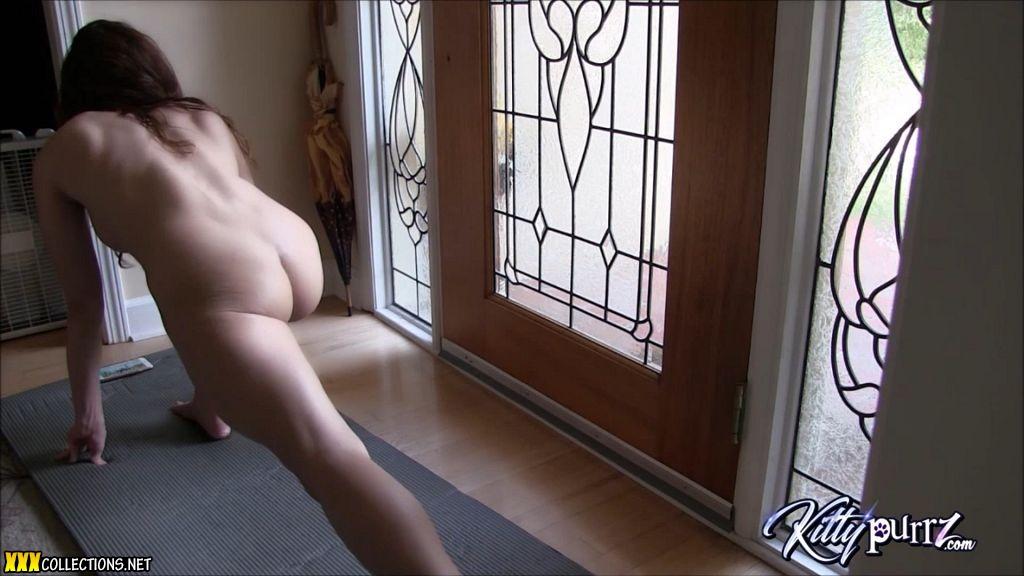 Naked yoga routine-5363
