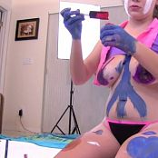 FloridaTeenModels Heather and Rachel Painted Boobs 011116 VOB